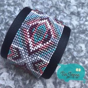 Native made beaded cuff